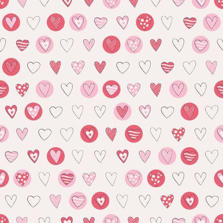 seamless hearts pattern Ilustracja