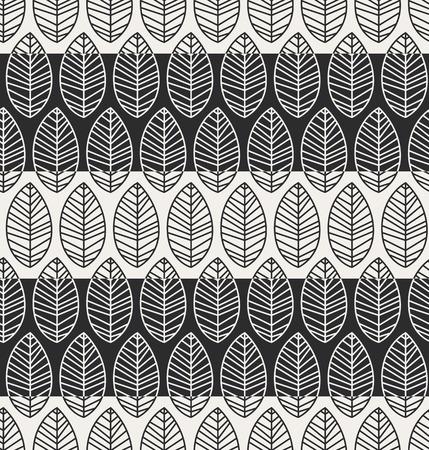 naadloze patroon met bladeren Stock Illustratie