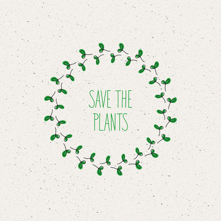 green concept: green concept, save the plants