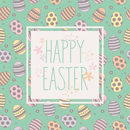 easter card: happy easter card