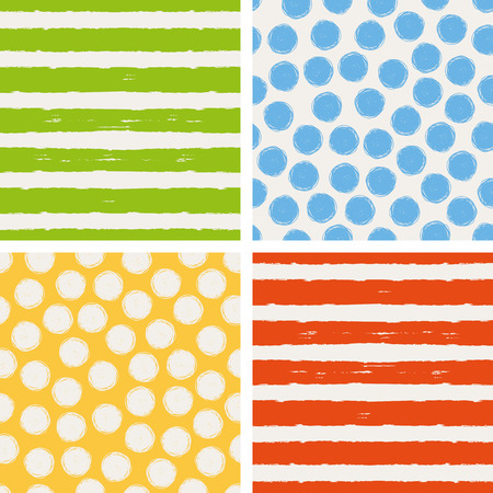 polka dots background: set of seamless patterns