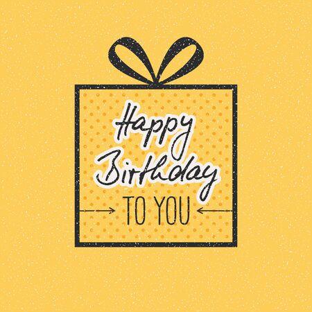 yellow card: Happy Birthday Card
