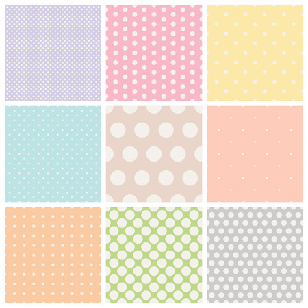 set of seamless dots patterns