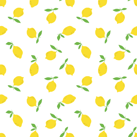 seamless pattern with lemon fruits