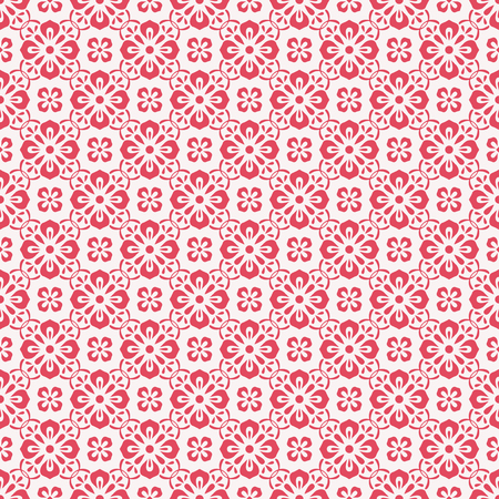 red wallpaper: seamless vintage pattern Illustration