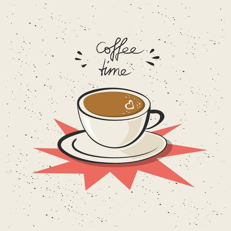 coffeetime: coffeetime, coffee cup with heart