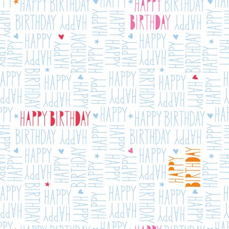 gift paper: happy birthday seamless pattern