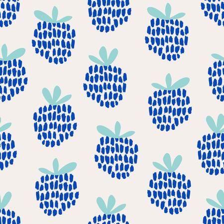 blackberries: seamless pattern with blackberries