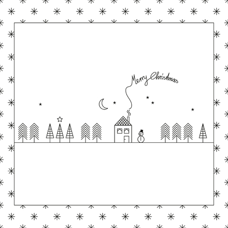 linearly: template for christmas design