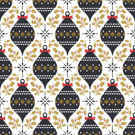 nahtlose Muster Weihnachten im Vintage-Stil