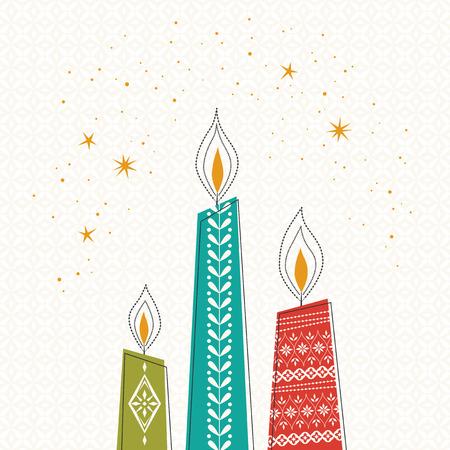 des bougies de Noël
