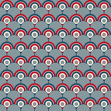 circles pattern: seamless geometric pattern with circles Illustration