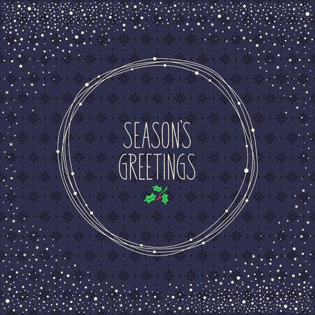dark blue background: christmas card