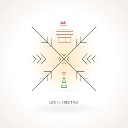 linearly: emplate for christmas design Illustration