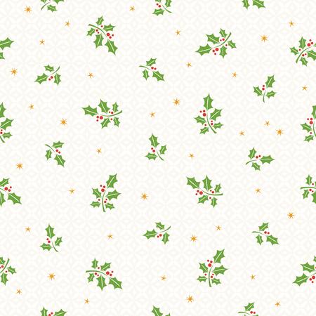 naadloze Kerst patroon met hulst