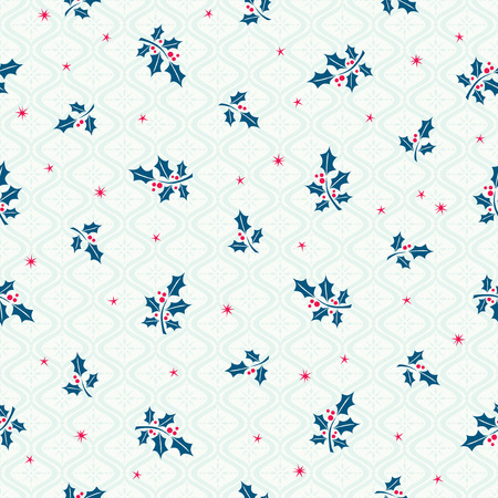 gift pattern: seamless christmas pattern with holly