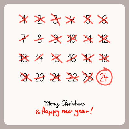 christmas calendar - template for christmas design