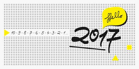 new year card: 2017 new year greeting card