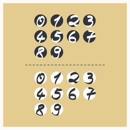 numbers: labels with handwritten numbers