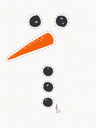snowman to cut out and crafting