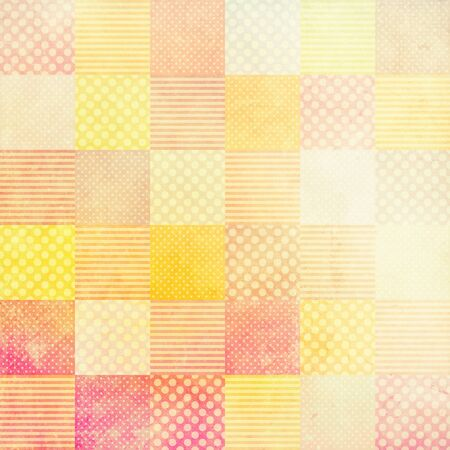 patchwork pattern: grunge background with patchwork pattern Stock Photo
