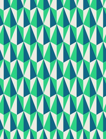 senza saldatura disegno geometrico retrò Vettoriali