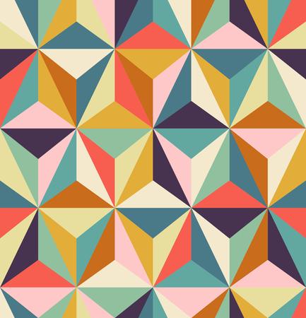 nahtlose geometrische Retro-Muster