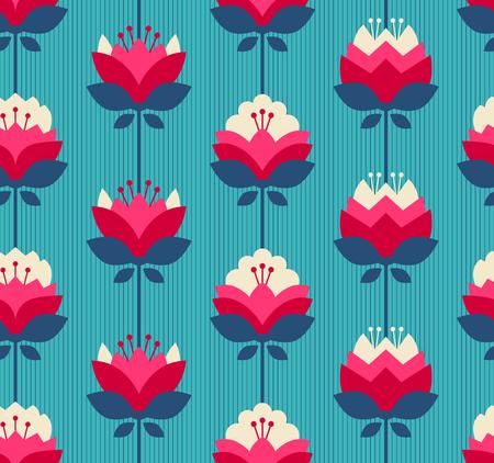 rétro seamless pattern avec des fleurs
