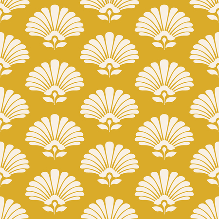 Artistic  seamless retro pattern with stylized flowers.