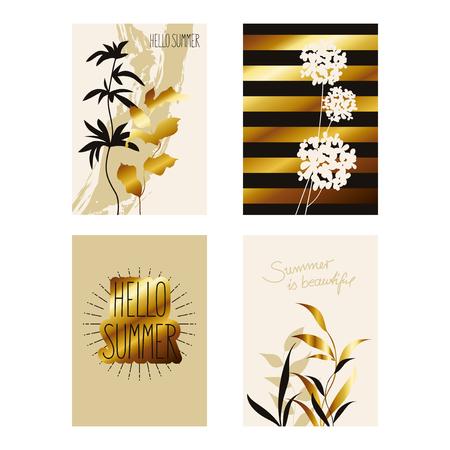Artistic set of decorative cards.