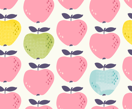 Seamless pattern with apples 版權商用圖片 - 75318169
