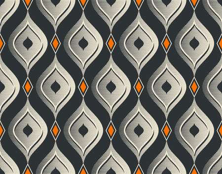 seamless vintage pattern  イラスト・ベクター素材
