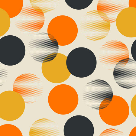 Seamless retro pattern with dots Vector Illustration