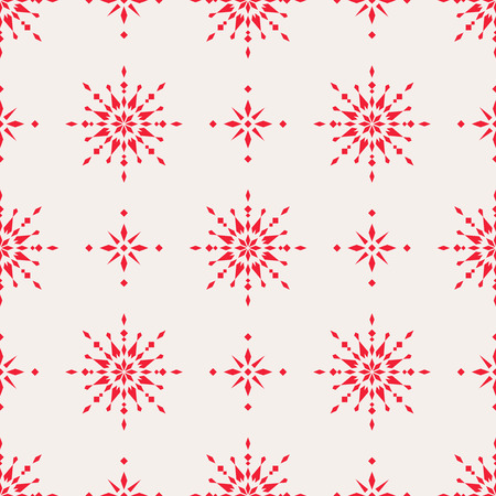 Seamless christmas pattern with scandinavian ornaments Illustration