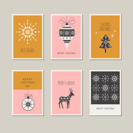Set of decorative christmas cards.