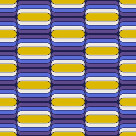 Abstract geometric shape seamless retro pattern.