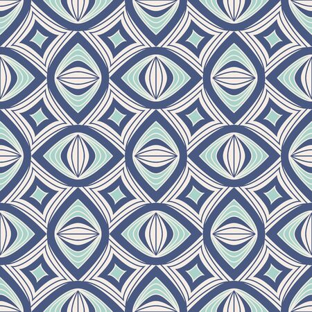 seamless vintage pattern with geometric elements