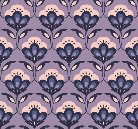 seamless retro floral pattern Vector illustration. Illustration