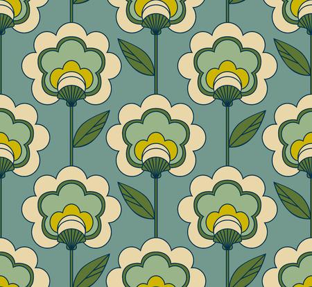 seamless retro floral pattern
