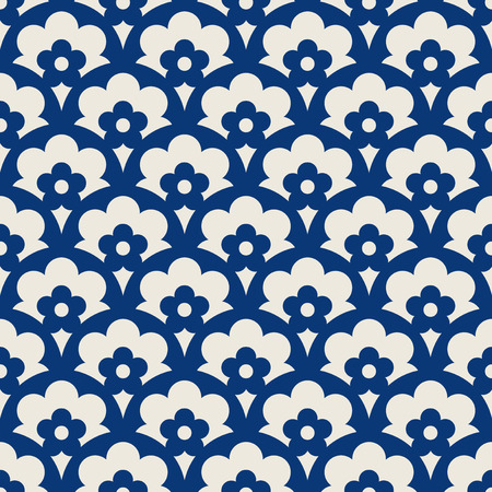 seamless retro pattern with floral elements