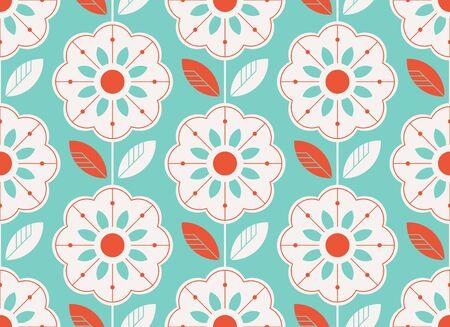 Seamless floral pattern in scandinavian style.