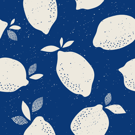 seamless pattern with citrus fruits Vector illustration. Stock Illustratie