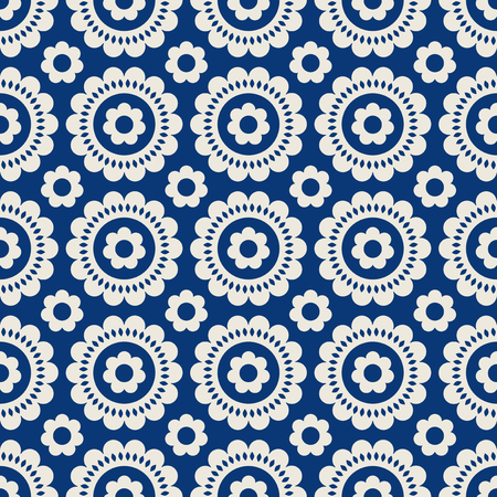Seamless retro pattern with flowers.