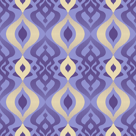 seamless retro pattern with raster dots elements