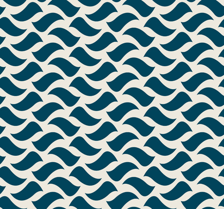 seamless pattern with waved elements