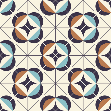 seamless geometric pattern in retro style Illustration