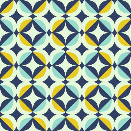 nahtloses Retro-Muster im skandinavischen Stil mit geometrischen Elementen Vektorgrafik