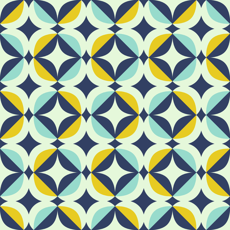 seamless retro pattern in scandinavian style with geometric elements Vectores