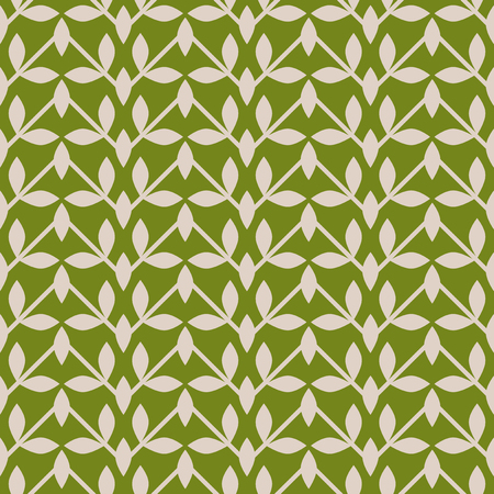 seamless abstract pattern with lines and leaves 向量圖像