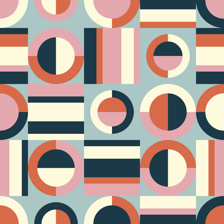 seamless retro pattern with geometric elements 向量圖像